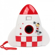 "Creative Cartoon Rocket Style 300K Pixels USB Digital Camera - White (1.0"" LCD / 2 x AAA)"