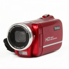 """5.1MP CMOS Digital Video Recorder Camcorder w/ SD / AV-Out - Red (3.0"""" TFT LCD) - HD-808"""