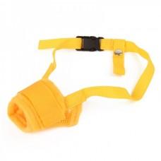 Useful Adjustable Pet Dog Muzzle Set - Yellow (Size-M)