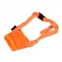 Useful Adjustable Pet Dog Muzzle Set - Orange (Size-M)