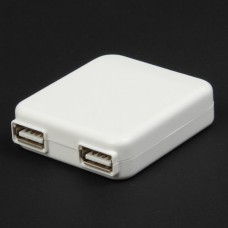 Dual USB AC Power Adapter Charger (AC 100~240V / 2-Flat-Pin Plug)