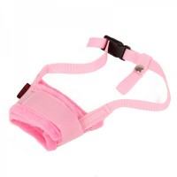 Useful Adjustable Pet Dog Muzzle Set - Pink (Size-M)