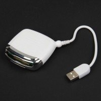 JP-106 Multi-Function 5-in-1 USB Card Reader with MS / XD / SD / MMC / CF 4.0 Slot - White + Silver
