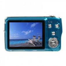 "8.1MP CMOS Compact Digital Video Camera w/ 3X Optical Zoom/SD Slot - Blue (2.7"" TFT LCD)"