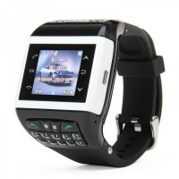 "Q9 Watch Mobile w/1.33"" Resistive Screen+Dual SIM Slot+ Quad-band+ Bluetooth V2.0 and FM Black+White"