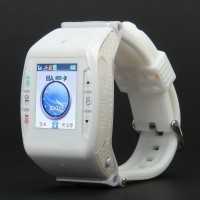 "N688 Watch Mobile w/1.33"" Resistive Screen+ Quad-band+ Bluetooth V2.0 and FM - White"