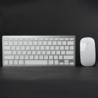 TK-908 Ultra-Thin 2.4GHz Wireless 78-Key Keyboard w/ 800/1200DPI Optical Mouse - White (2 x AAA)