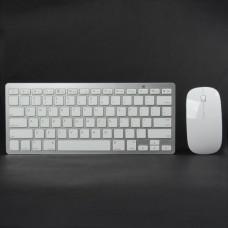 TK-908 Ultra-Thin 2.4GHz Wireless 78-Key Keyboard w/ 800/1200DPI Optical Mouse - White (2 x AAA)