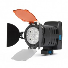 LED-5005 Rechargeable 1450LM 4-LED White Light Video Lamp with Filers for Camera/Camcorder