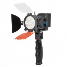 LED-5010 Rechargeable 920LM 6-LED White Light Video Lamp with Filers for Camera/Camcorder