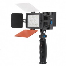 LED-5080 Rechargeable 1540LM 8-LED White Light Video Lamp with Filers for Camera/Camcorder