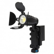 LED-5008 Photographic lamp for All Standard Hot Shoe camcorder Black