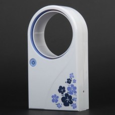Mini Portable Desktop No Leaf Air-conditionWhite+Purple)