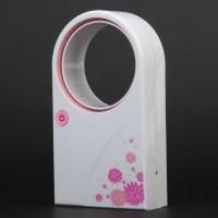 Mini Portable Desktop No Leaf Air-conditionWhite+Pink