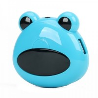 Cute Frog Head Shaped High Speed 4-Port USB 2.0 Hub - White