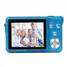 5MP CMOS Compact Digital Video Camera - Blue (2.7