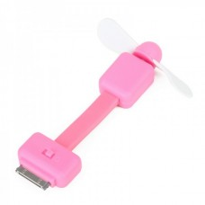 2-Leaf Mini Fan For iPhone/iPod Touch - Pink