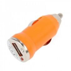 Micro USB Cable + Mini Car Charger (Orange)