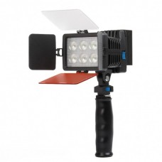 LED-5010A Rechargeable 1050LM 6-LED White Light Video Lamp with Filers for Camera/Camcorder