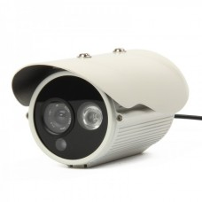 """1/3"""" SONY CCD 1.3MP Waterproof Surveillance Security Camera w/ 1-LED IR Night Vision - White"""