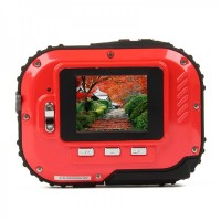 Waterproof 3.0MP CMOS Compact Digital Camera w/ 8X Digital Zoom/TF Slot - Red (2xAAA/1.8)