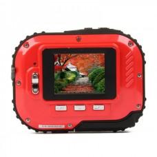 Waterproof 3.0MP CMOS Compact Digital Camera w/ 8X Digital Zoom/TF Slot - Red (2xAAA/1.8)