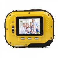 Waterproof 3.0MP CMOS Compact Digital Camera w/ 8X Digital Zoom/TF Slot - Yellow (2xAAA/1.8)
