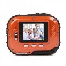 Waterproof 3.0MP CMOS Compact Digital Camera w/ 8X Digital Zoom/TF Slot - Orange (2xAAA/1.8