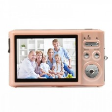 "2.7"" TFT 5MP CMOS Compact Digital Camera Camcorder w/ 4X Digital Zoom/SD Slot - Light Pink"