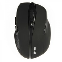MC Saite 2.4GHz Wireless 500/1000DPI Optical Mouse w/ Receiver - Black (2 x AAA)