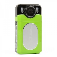 "HD 720P 5.0MP CMOS Digital Video Camera Camcorder w/ TV-Out/Mini USB/SD - Green (2.0"" LCD)"