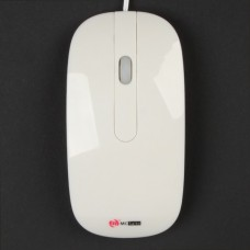 MCSaite USB Optical Mouse with Retractable Cable - white (70CM-Cable)