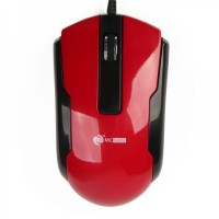 MCSaite USB 2.0 600/1000/1600DPI Optical Mouse - Black+Red (130CM-Cable)