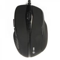 MCSaite USB Optical Mouse - Black (130CM-Cable)