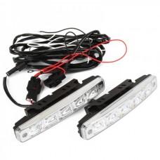 Auto Car 5W 6000K 400-Lumen 5-LED White Daytime Running Light (DC 12~24V/Pair)
