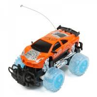 1:18 4-CH 27MHz R/C Racing Car w/ Lighting Effect - Orange (3 x AA / 2 x AA)