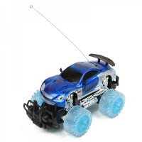 1:18 4-CH 27MHz R/C Racing Car w/ Lighting Effect - Blue (3 x AA / 2 x AA)