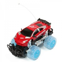 1 : 18 4-CH R/C Racing Car w/ Lighting Effect - Red (3 x AA / 2 x AA)