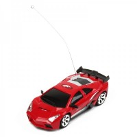 Cool R/C 2-CH Model 1:32 Scale Plastic Racing Car - Red (3 x AA/2 x AA)
