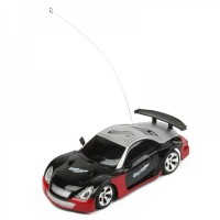 Cool R/C 2-CH Model 1:32 Scale Plastic Racing Car - Black + Silver (3 x AA/2 x AA)