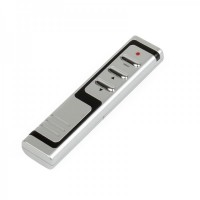 Wireless USB RF Presenter with Red Laser Pointer - Silver + Black (433MHz/2*AAA)