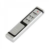 RF433MHz Wireless USB Presenter with Red Laser Pointer - Silver + Black (2*AAA)