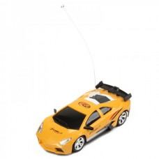 Cool R/C Model 1:32 Scale Plastic Racing Car - Yellow + Black (3*AA/2*AA)