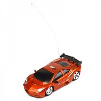 Cool R/C 2-CH Model 1:32 Scale Plastic Racing Car - Orange (3 x AA/2 x AA)
