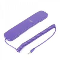 IPEGA Retro Radiation Protection Wired Telephone Handset - Purple (3.5mm Audio Jack / 1.8m-Cable)