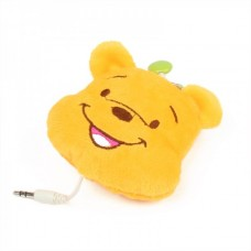 Cute Cartoon Winnie The Pooh Figure Style Earphone with Chain (3.5mm Jack / 73cm-Cable)