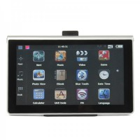"7"" Touch Screen Win CE 6.0 GPS Navigator w/ FM / Bluetooth / Camera - US/Canada/Mexico Map (4GB)"