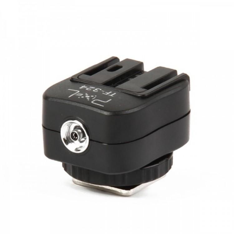 Pixel TF-324 Sony Alpha Flash Hot Shoe Converter Adapter - Black