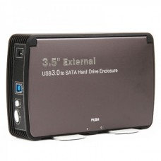 "USB 3.0 High Speed 3.5"" SATA External HDD Enclosure with Heat Sink Fan"