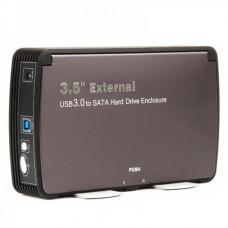 "USB 3.0 High Speed 3.5"" SATA External HDD Enclosure with Heat Sink Fan"